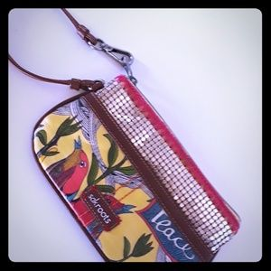 Sakroots Wristlet with Chainmail accents